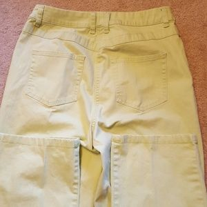 Women's Christopher & Banks lime green pants as 8